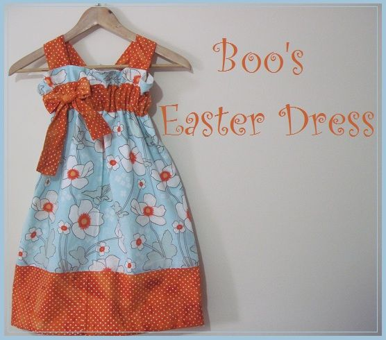 HOW TO MAKE EASTER DRESSES | make her easter dress using the same pattern as the other two dresses ...