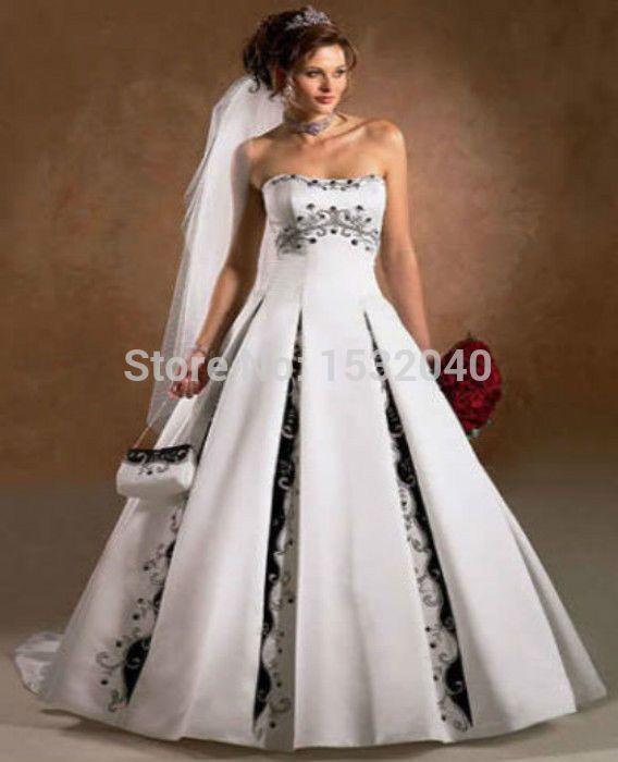 Resultado de imagen para vestidos de novia con negro | Vestidos wow ...