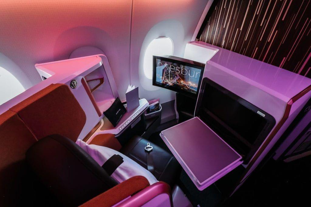 Flight review virgin atlantics new a350 upper class