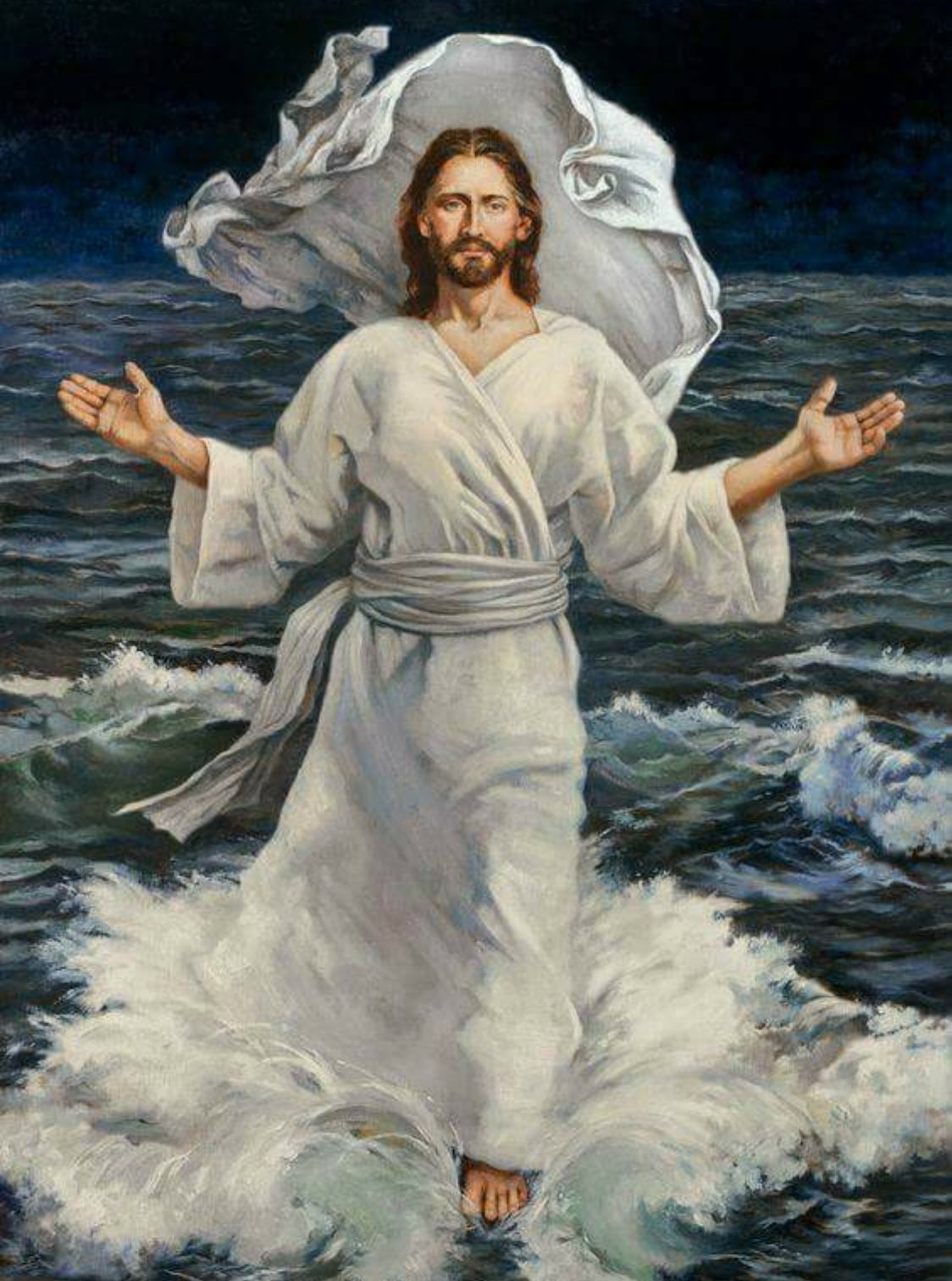 Jesus Christ walks on Water! Amen! † | All kinds of Cross ...