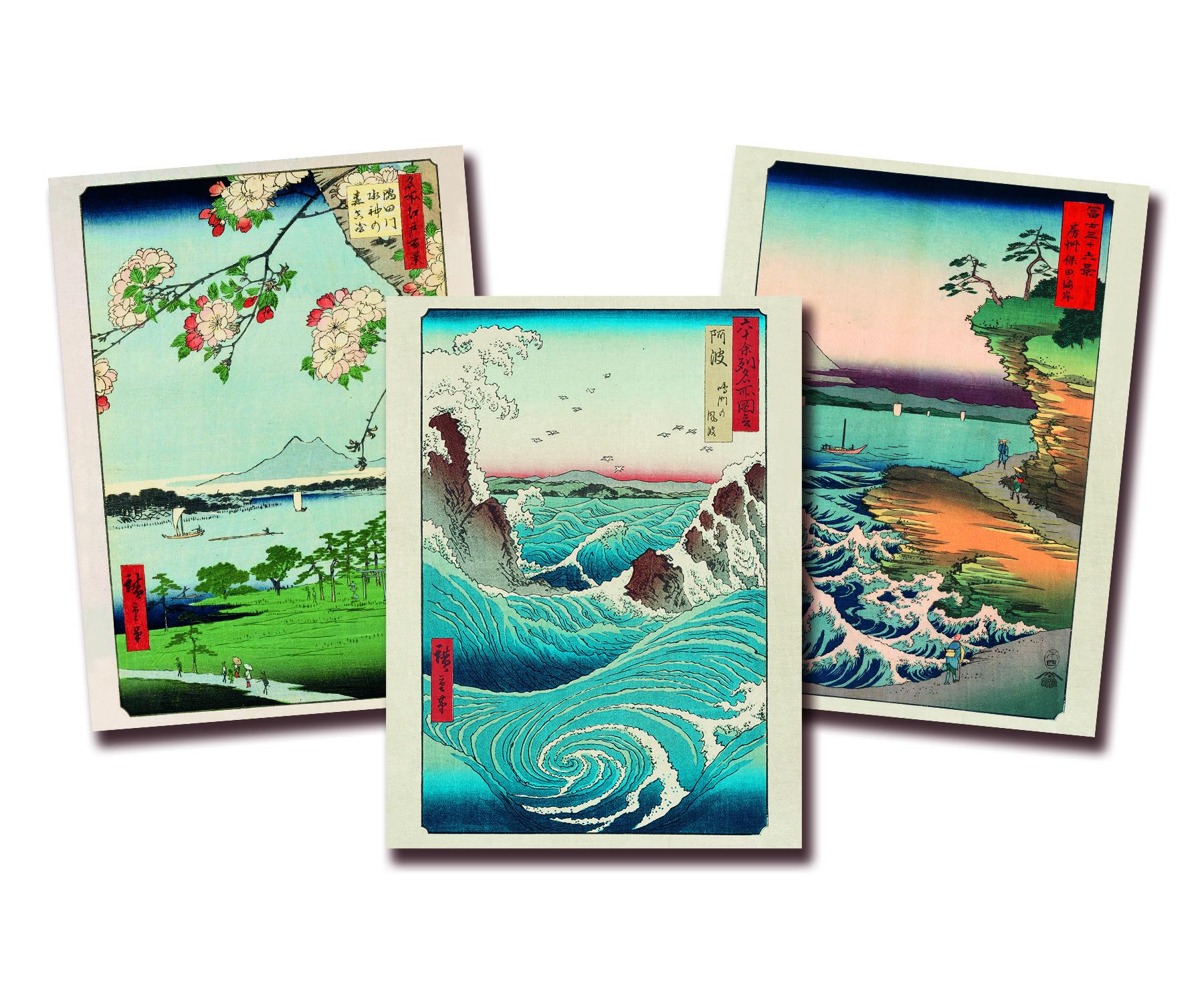 Hiroshige Kunstdruck 3er Set Poster Kunstdrucke In 2019