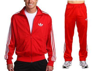 Rote adidas firebird jacke