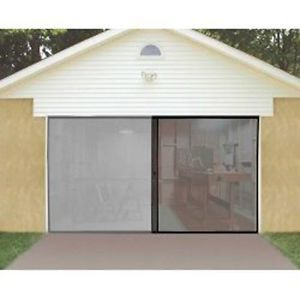 One Car Single Garage Screen Door Bug Mosquito Insect Net Curtain