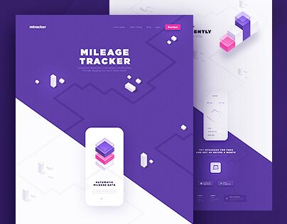 다음 @Behance 프로젝트 확인 u201cMileage Tracker - Website - mileage tracker