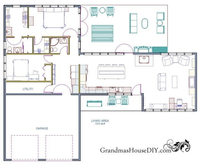 One story front porch house plans