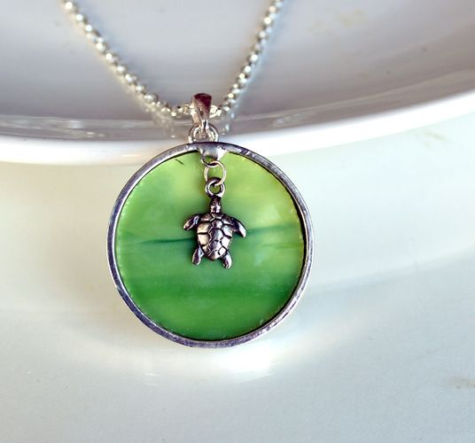 Where Turtles Play - OOAK Necklace. Starting at $1 on Tophatter.com!