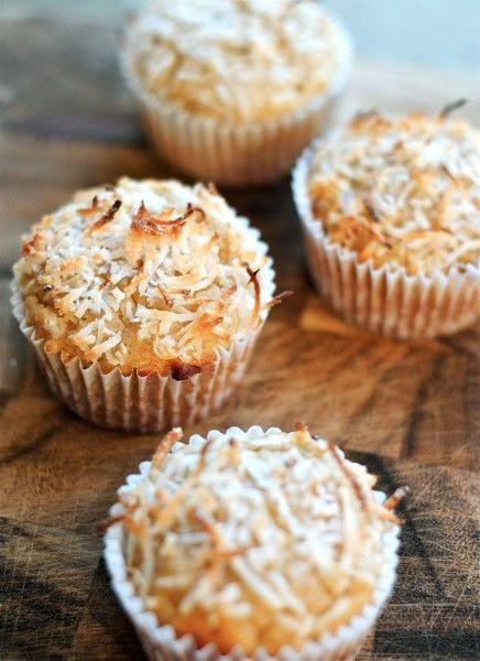 Dreamy Coconut Sour Cream Muffins Recipe Sour Cream Muffins Coconut Muffins Coffee Cake