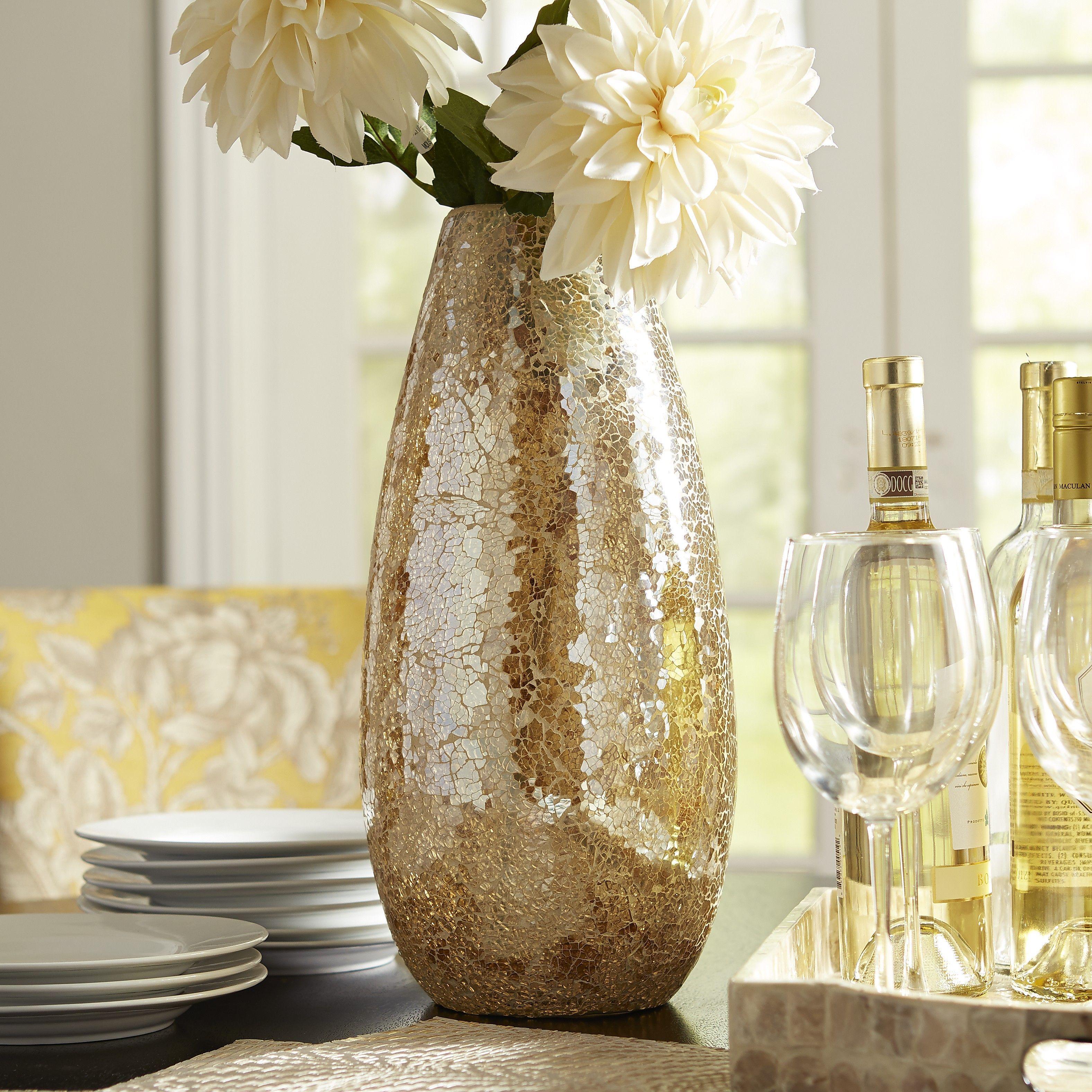 Gold luster mosaic glass vase mosaic glass luster and mosaics gold luster mosaic glass vase reviewsmspy