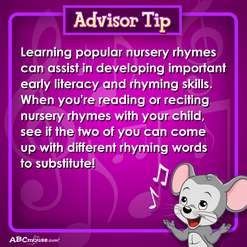 Advisor Tip Learning Popular Nursery Rhymes Can Assist In Developing Important Early Literacy And Rhyming Skill Preschool Lessons Early Literacy Rhyming Words