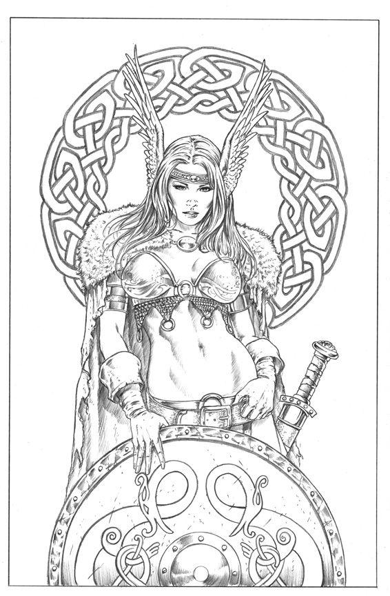 Shield Maiden By Mitchfoustdeviantartcom On At Deviantart Viking
