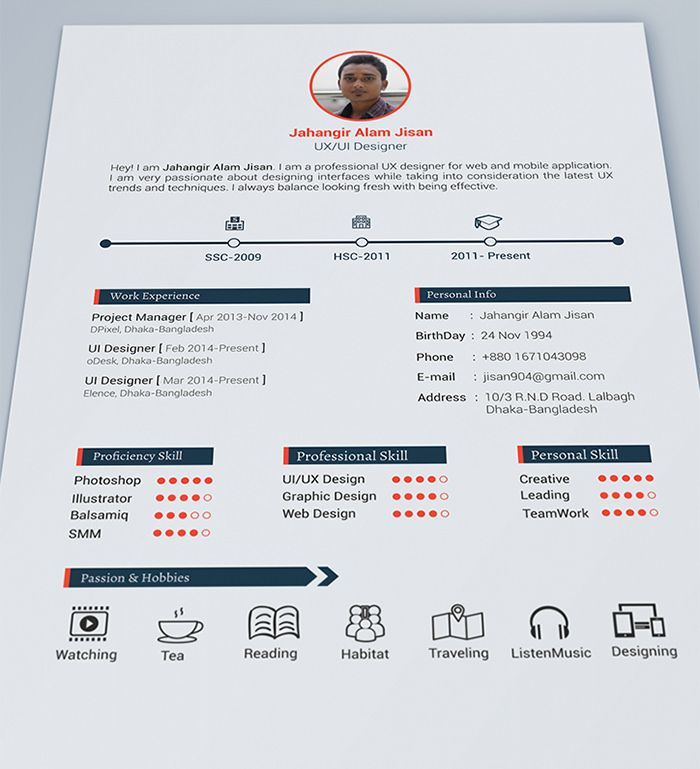 30 Free & Beautiful Resume Templates To Download | Cv Maken