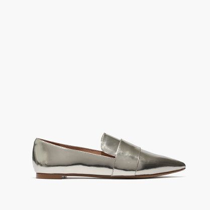 The Leandra Loafer in Metallic