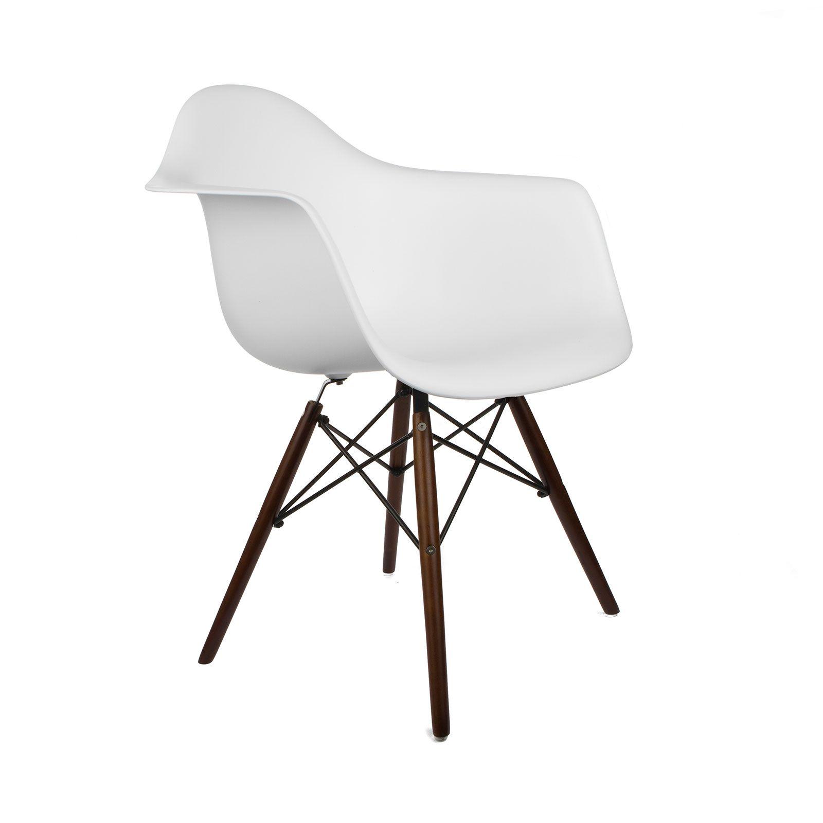 Walnut Montmartre Arm Chair in White | dotandbo.com