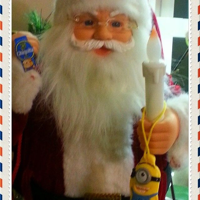#StickAMinionOnIt sending my letter to Santa and telling him I was Good this year!