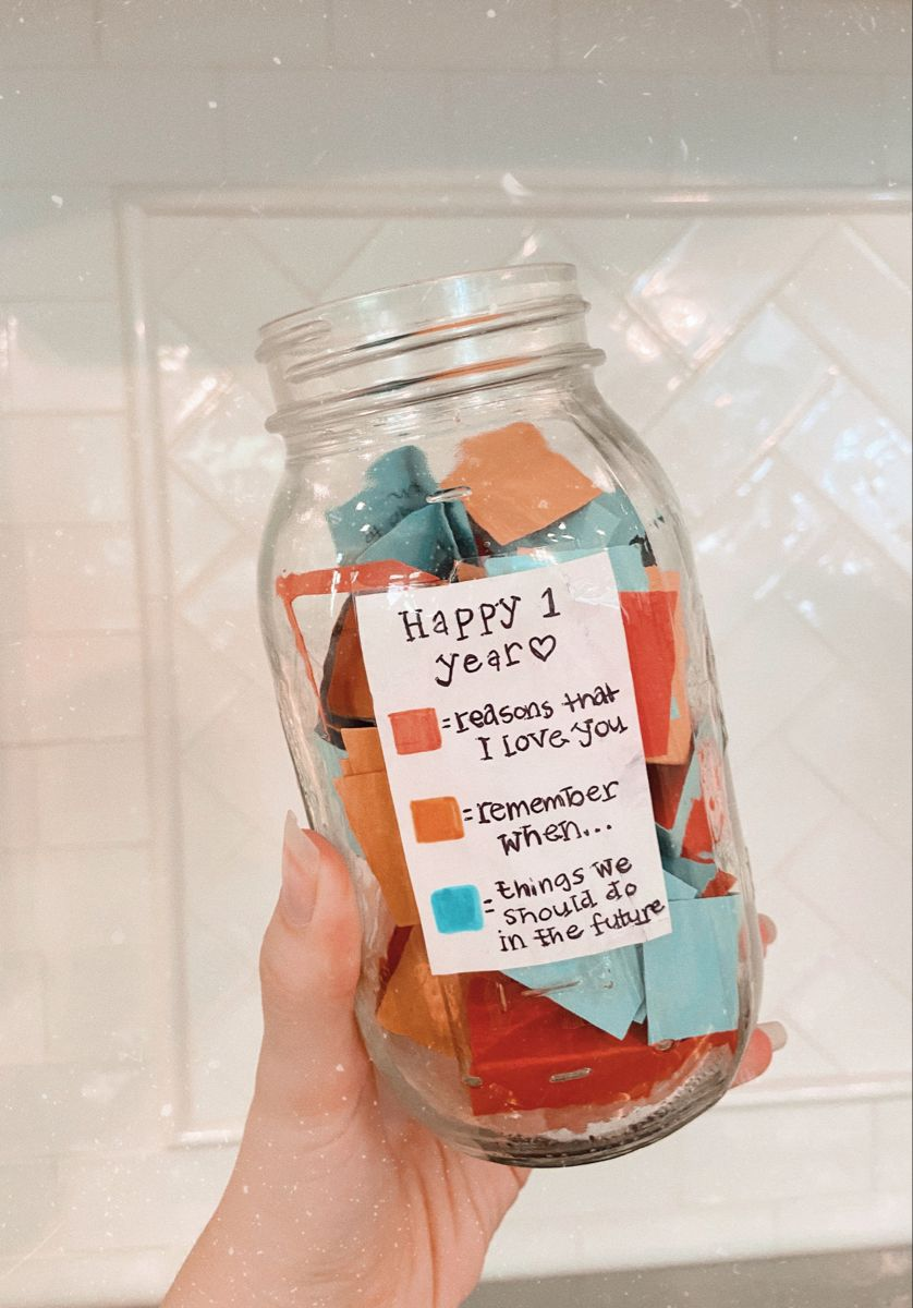 Note Jar Gift Boyfriend Anniversary Gifts Birthday Gifts For Boyfriend Diy Diy Anniversary Gift