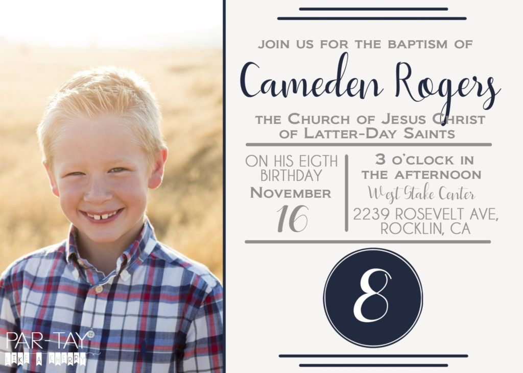 Free Lds Baptism Announcement Template All Things Lds Pinterest