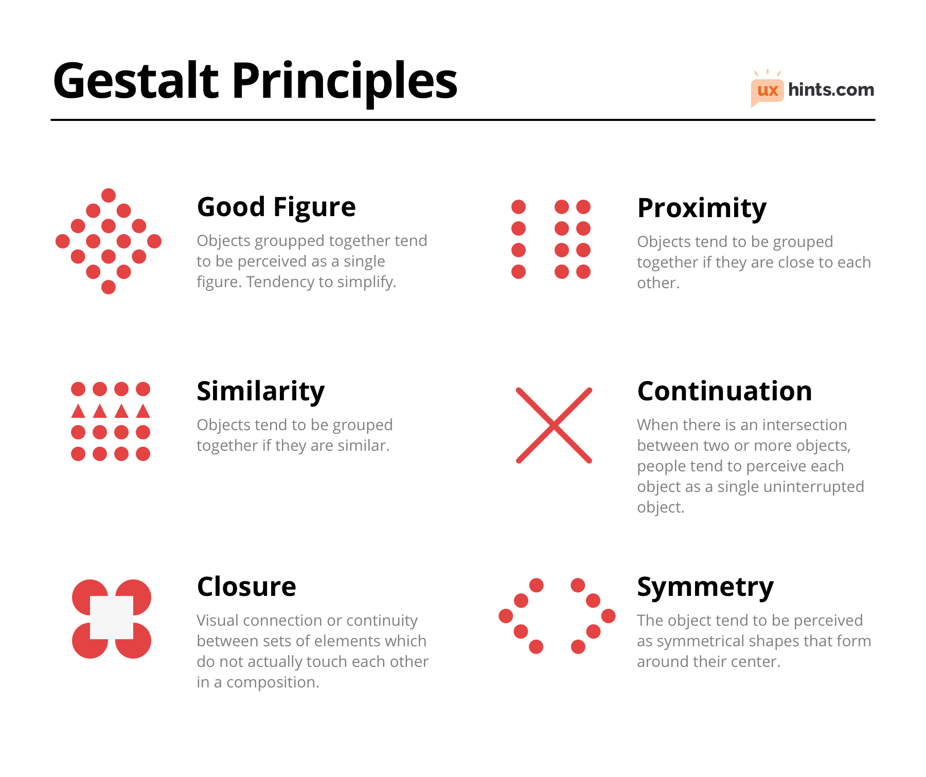 6 Gestalt Principles In Ux Design Ux Hints Web Design Graphic Design Tips Design Theory