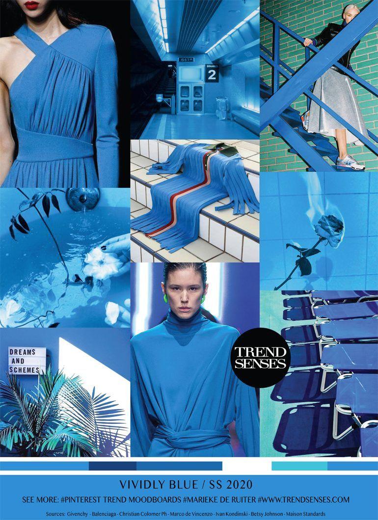 MOODBOARD - VIVIDLY BLUE - SPRING /SUMMER 2020 | 2019 2020 ...