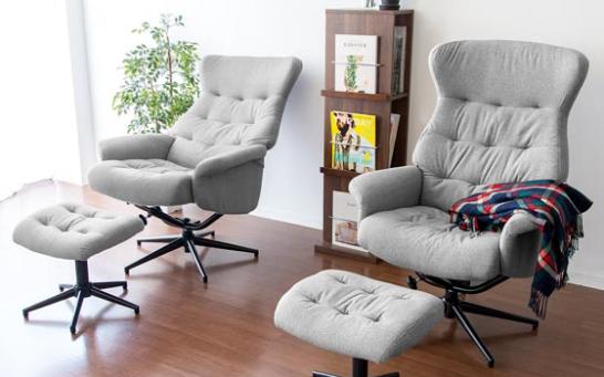 二人それぞれの好みの一人掛けソファを置いて リラックス インテリア 家具 リクライニングチェア インテリア