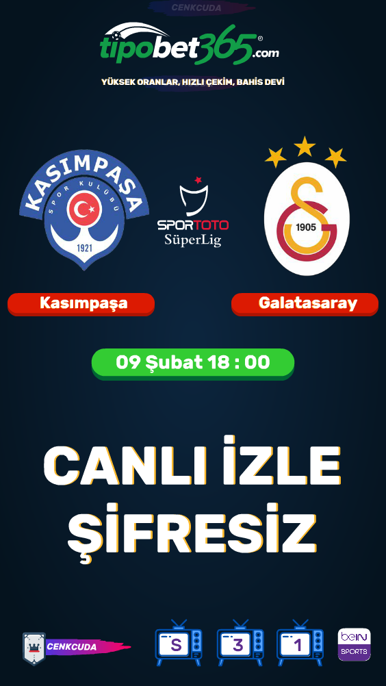 Kasimpasa Galatasaray Maci Izle Canli Sifresiz Mac Izleme Spor