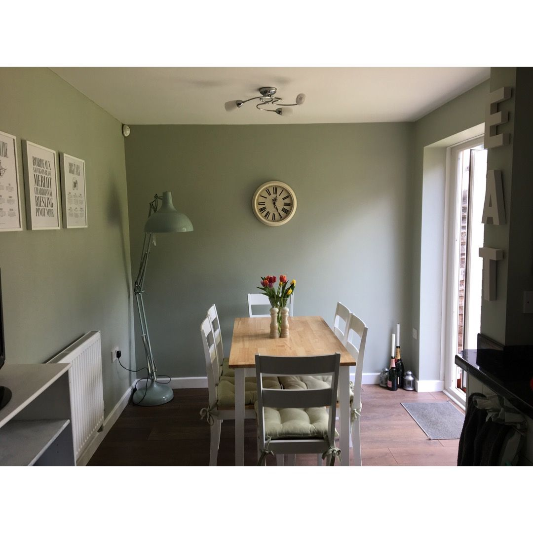 Farrow And Ball Mizzle.Farrow Ball Mizzle Walls In Our Dining Room In 2019