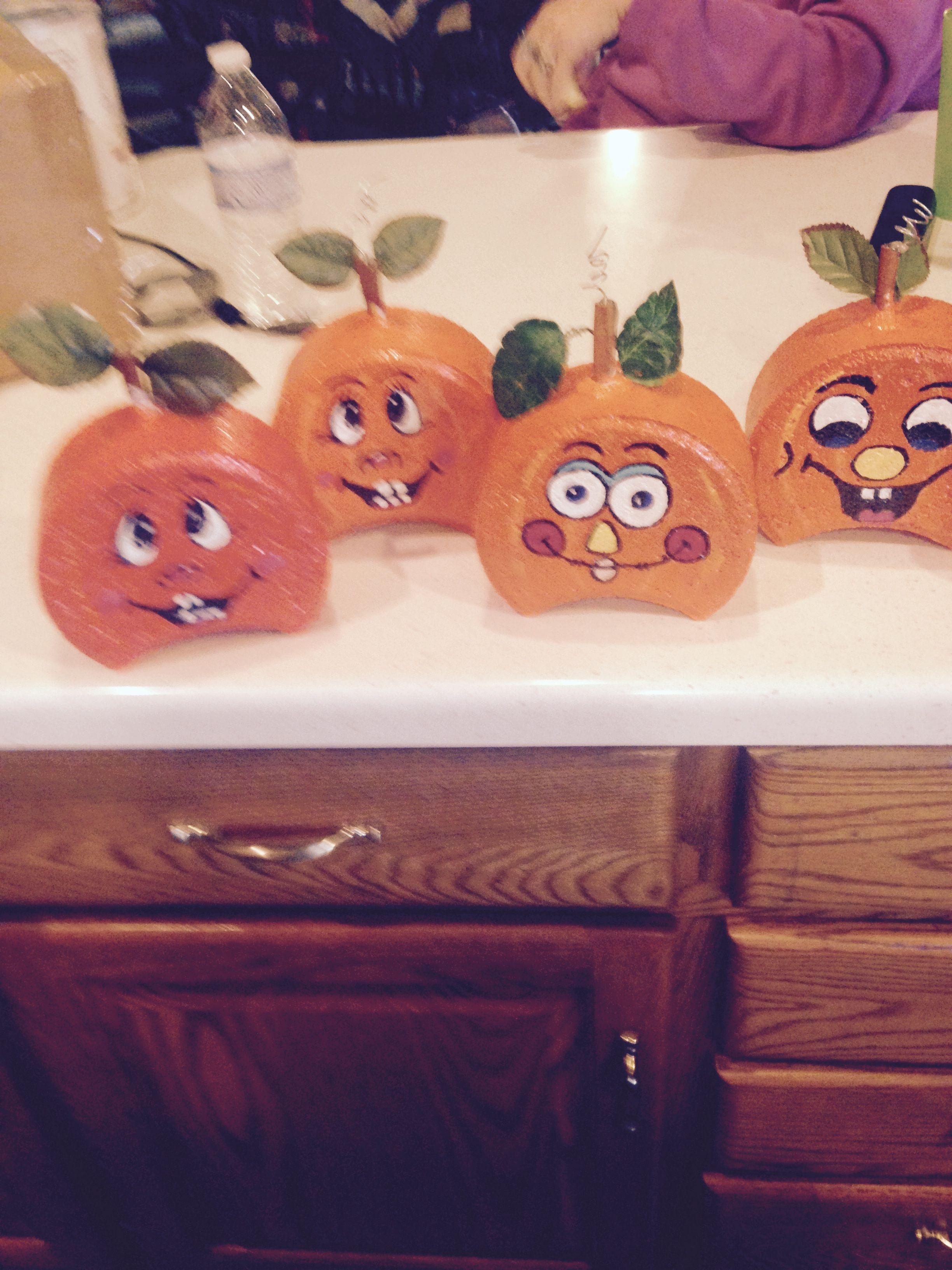 Brick Paver Pumpkins