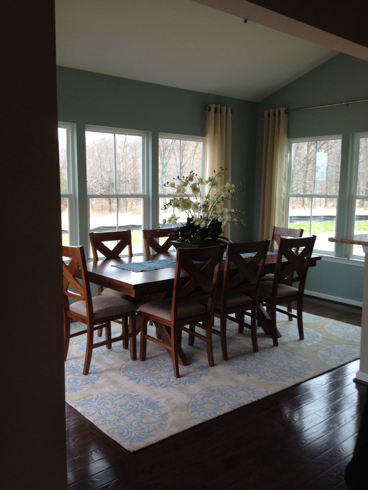 morning room painted in sherwin williams quietude