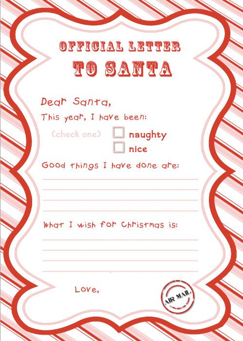 Official Letter To Santa My Little Girl Had A Blast Filling This
