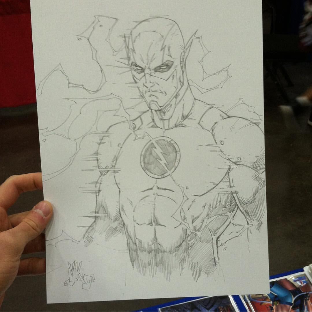 V Ken Marion On Instagram Reverse Flash Eobardthawn Sketch Done At Cincinnati Comic Expo 2015 Vkenm Comic Book Drawing Flash Drawing Comic Book Artwork