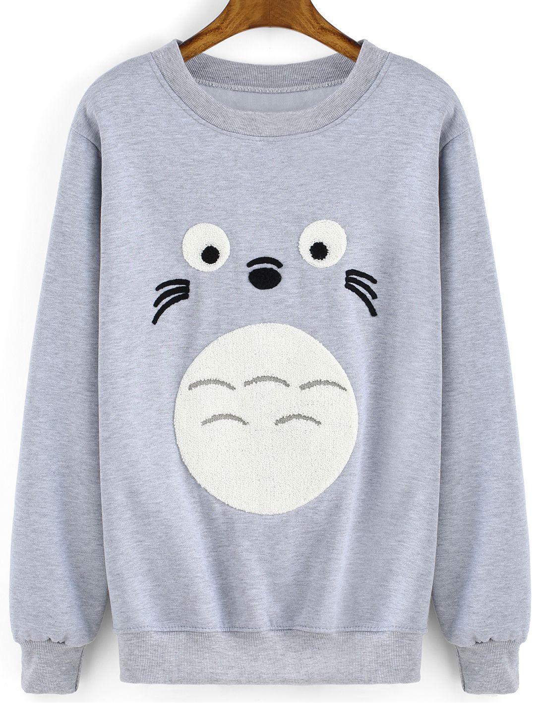 Studio Ghibli My Neighbor Totoro Crew Pullover Totoro Nerd Shirts Sweatshirts [ 1836 x 1360 Pixel ]