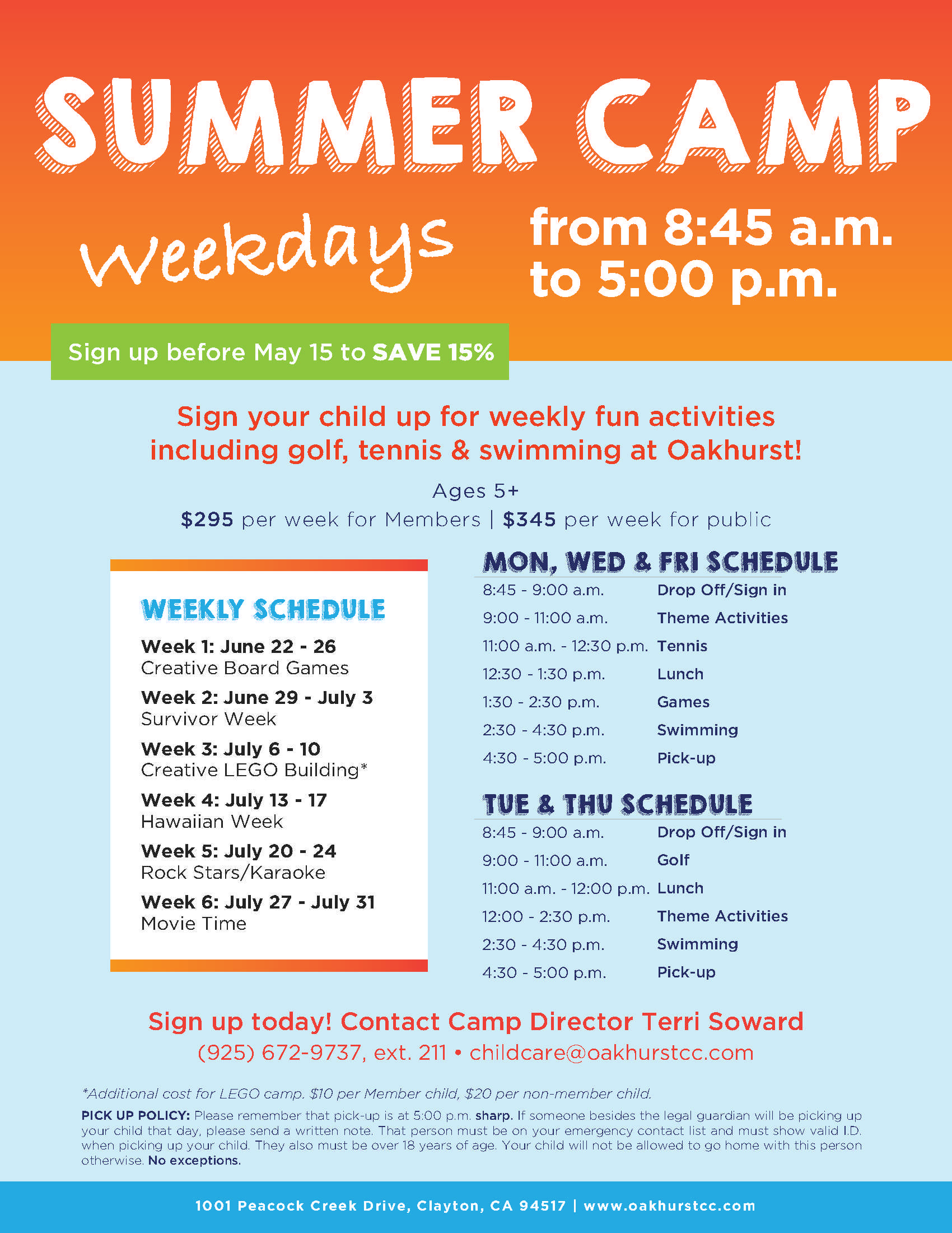 Oakhurst Summer Camp Flyer Template Kids Pinterest Flyer - Summer camp brochure template