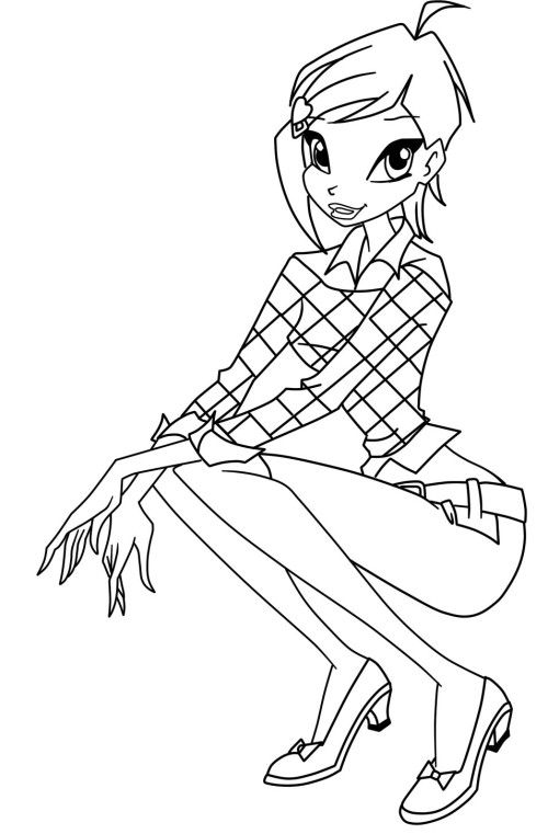 Winx Club Tecna Coloring Pages | Winx club | Pinterest | Färben ...