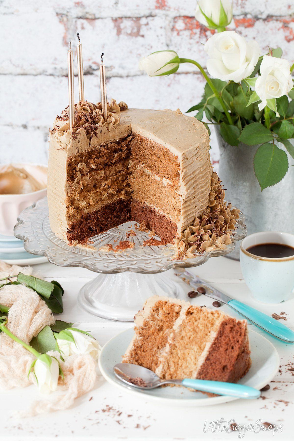 This Triple Coffee Layer Cake is based on the Latte, Mocha