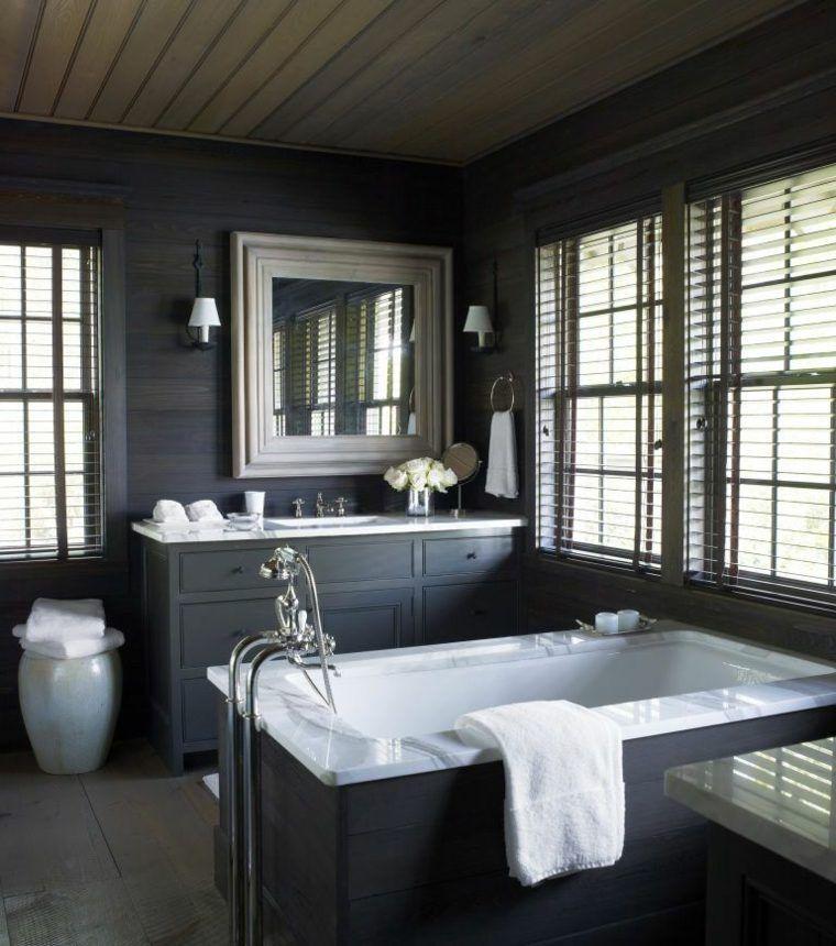 Meuble salle de bain noir, un rangement plein de caractère - salle de bain meuble noir
