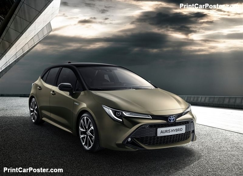 Toyota Auris 2019 Poster Toyota Auris And Toyota