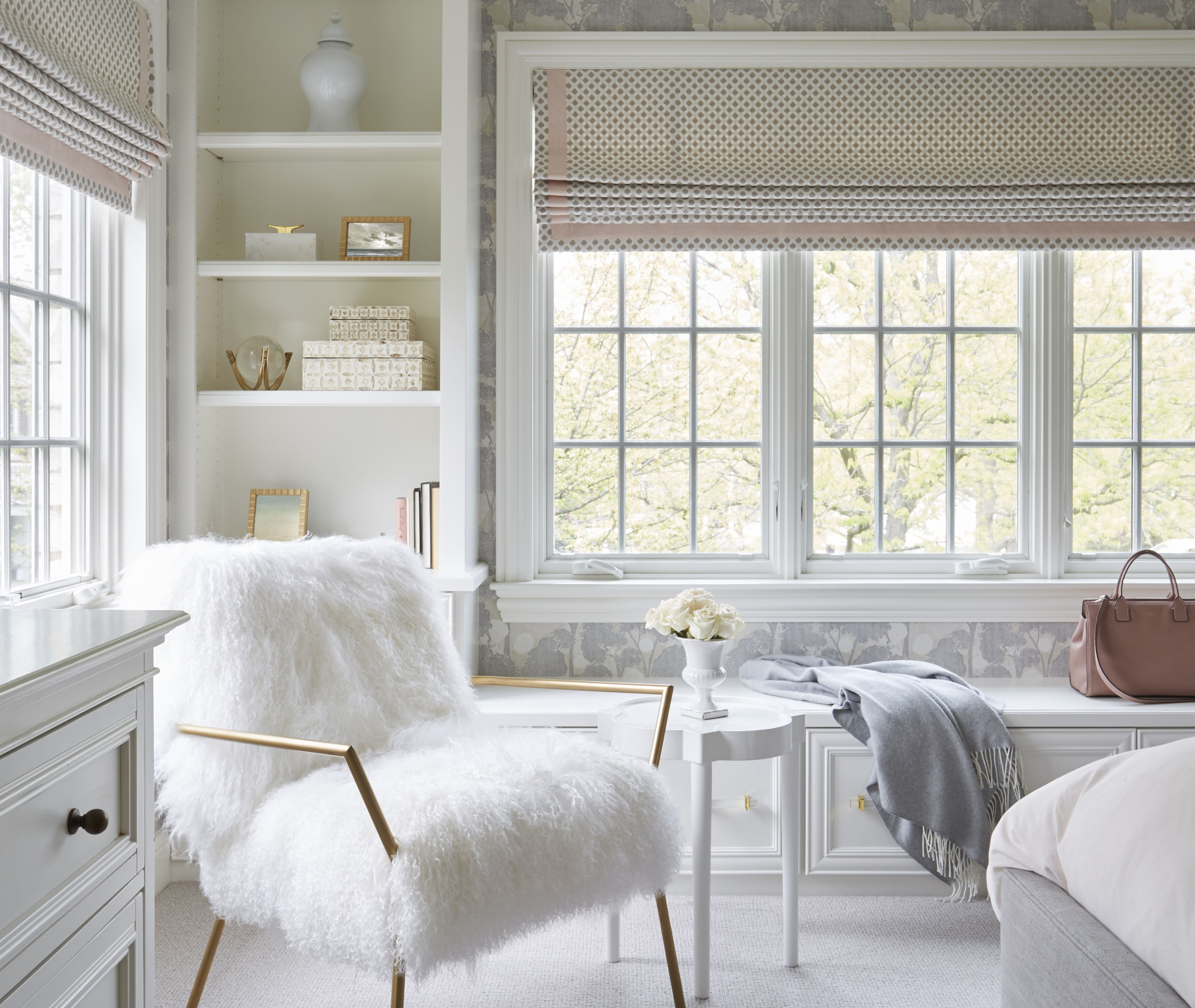 Light and bright girls bedroom. Interior design by North