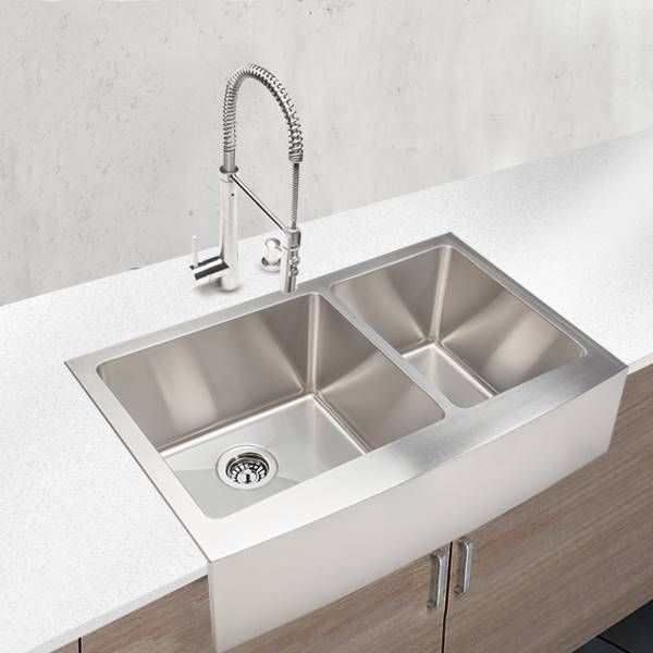Hahn Chef Series Handmade Large 60 40 Farmhouse Sink Farmhouse