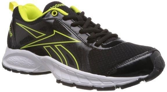 c96a1f787d7 Reebok Men s Top Runner LP Black and Solar Green Mesh Track and Field Shoes  - 8