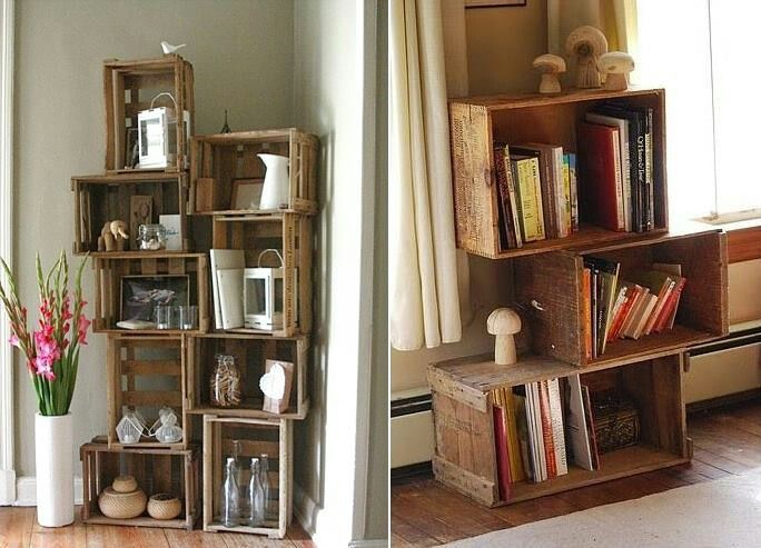 Kisten Regal Things To Do Diy Crates Wooden Crates Old