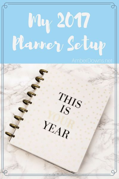 2017 planner setup in The Happy Planner. How I plan my day and week i this planner.