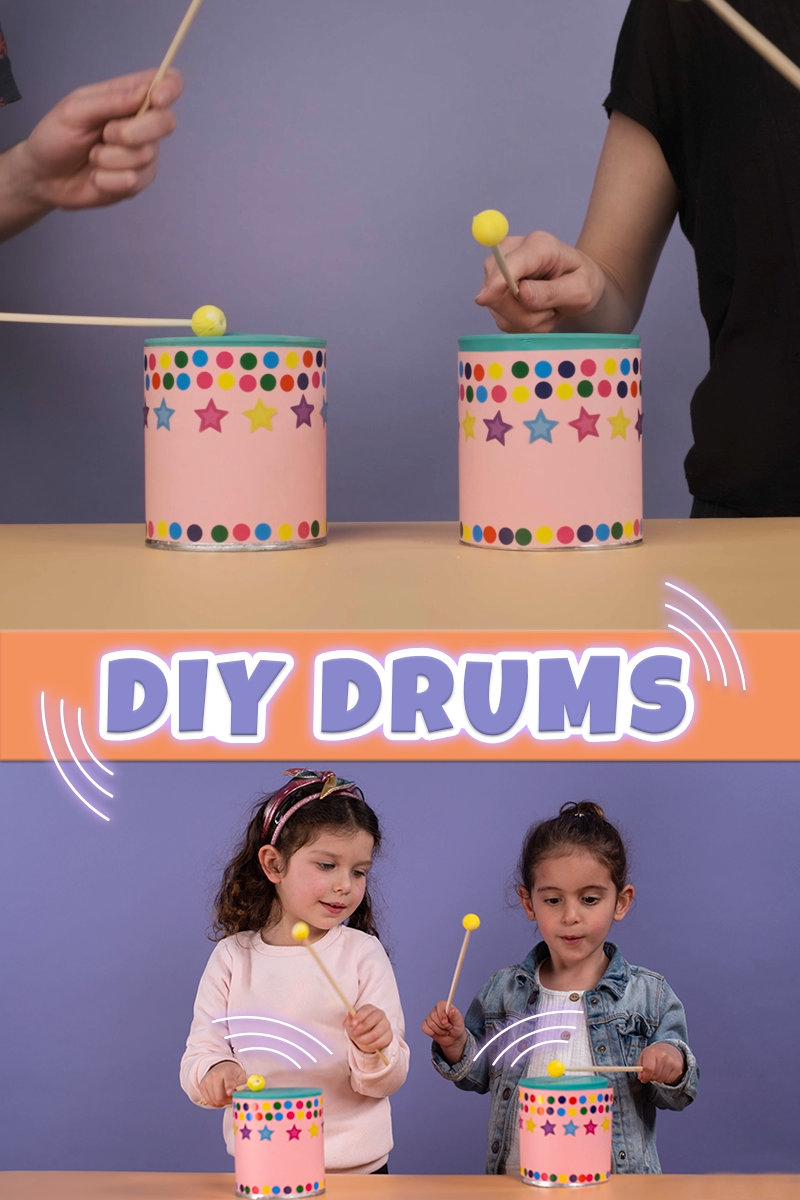 DIY Drums - A Fun and Simple Upcycle Instrument fo