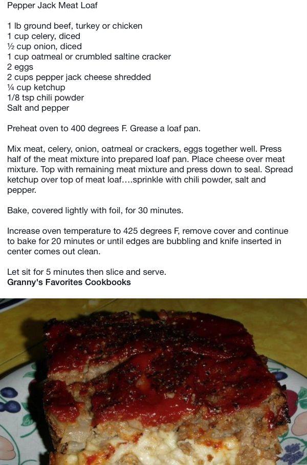 Pepperjack Meatloaf Recipes Food Cooking Recipes