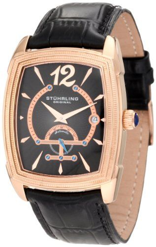 Men's Wrist Watches - Stuhrling Original Mens 34733451 Classic Metropolis Taurus 20 Jewel Automatic Movement Watch Rose Tone >>> More info could be found at the image url.