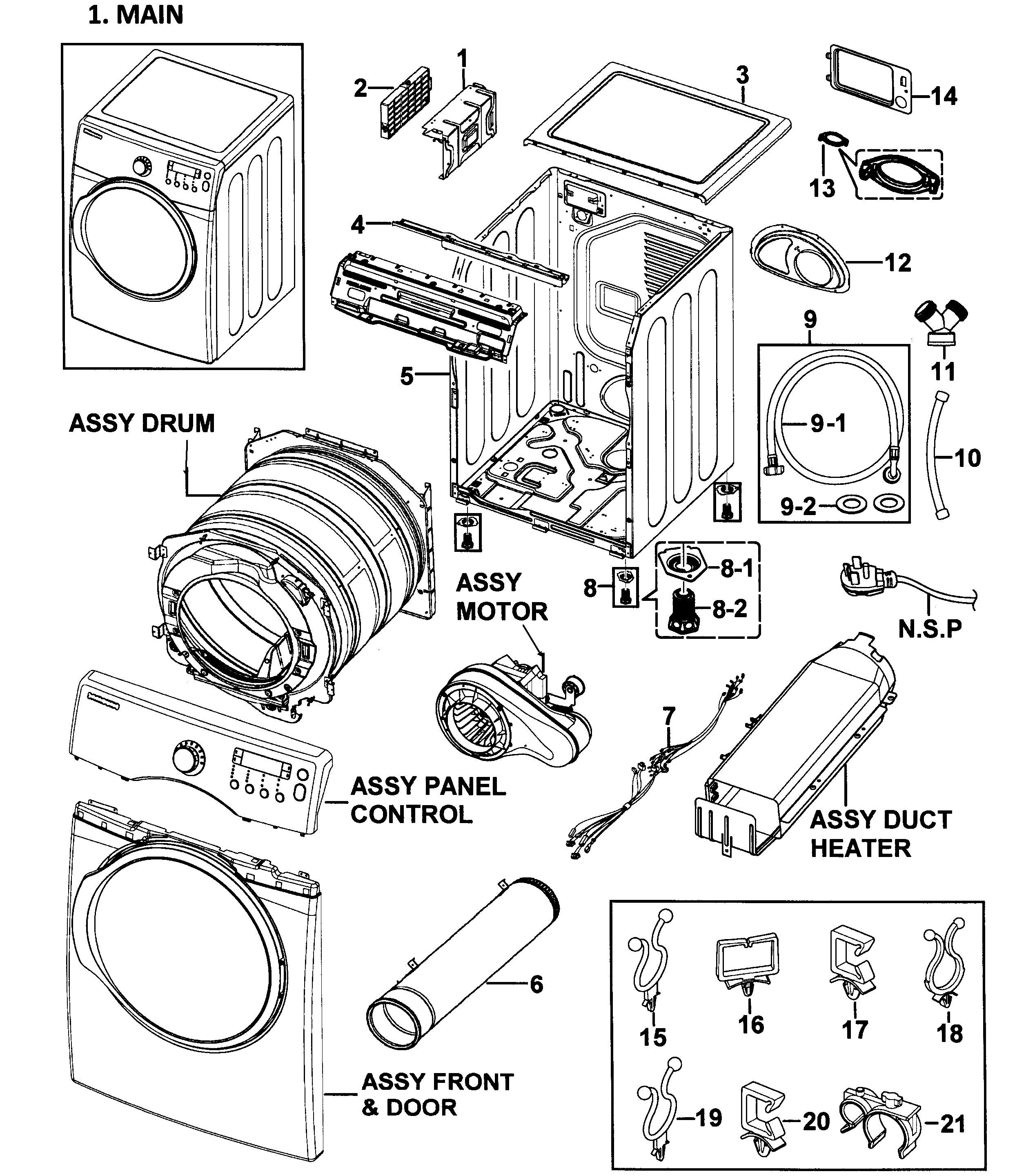 Wire Diagram For Samsung Dryer Model Dve52m8650v A3 Samsung Dryer Electric Dryers Dryer Repair
