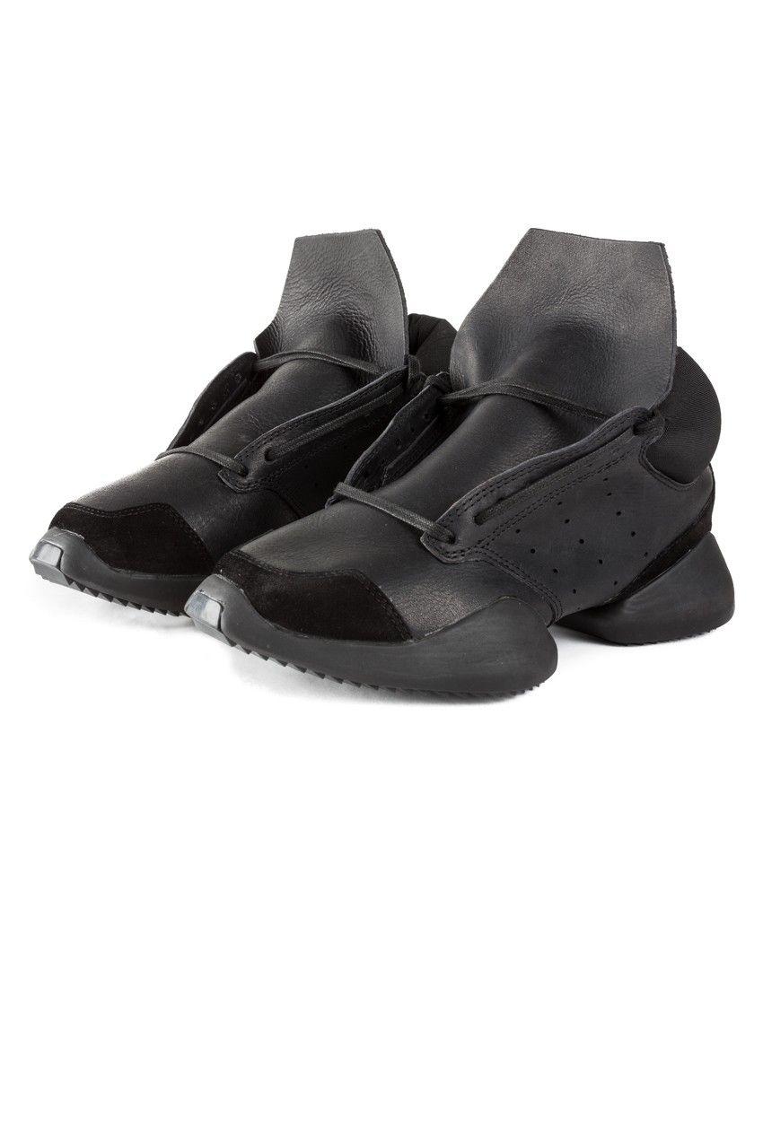 Adidas X Rick Owens Black Black Runner Ghim Shoes Accessories In