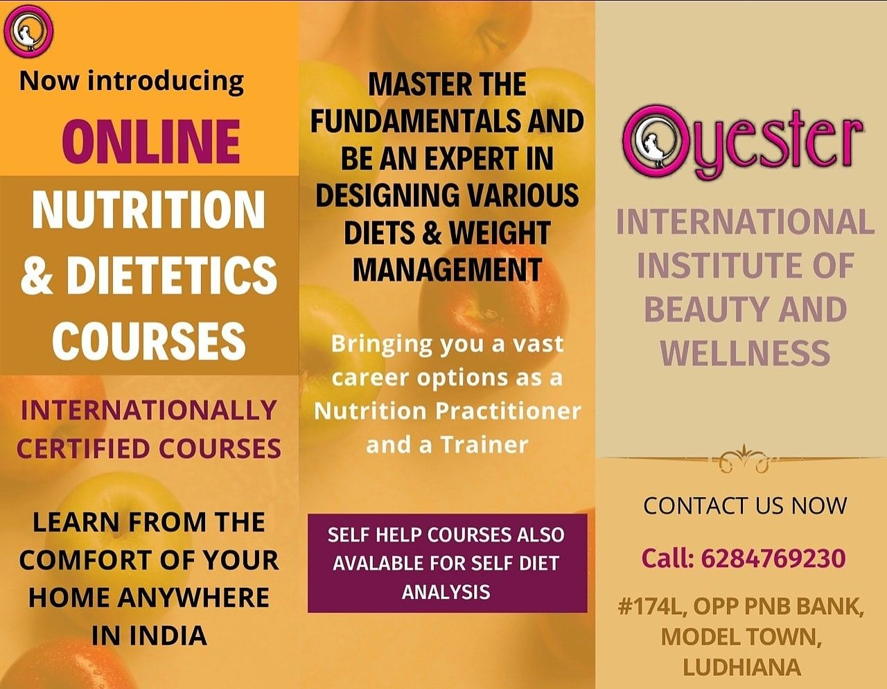Online Nutrition Course Makeup Course Beauty Courses Beauty Business
