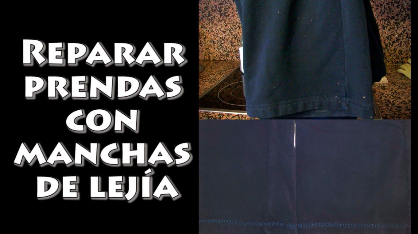 Reparar prendas con manchas de lejía, Repair clothes with