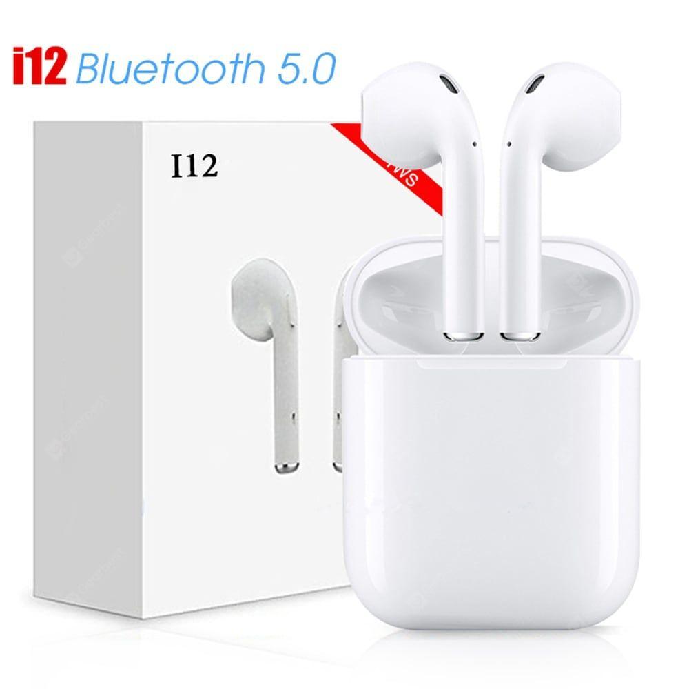 Only 52 00 Buy I12 Tws Bluetooth 5 0 Headphone Sports Sweatproof True Wireless Touch Earphones At Gearbest Stor Earbuds Wireless Earphones Bluetooth Earphones