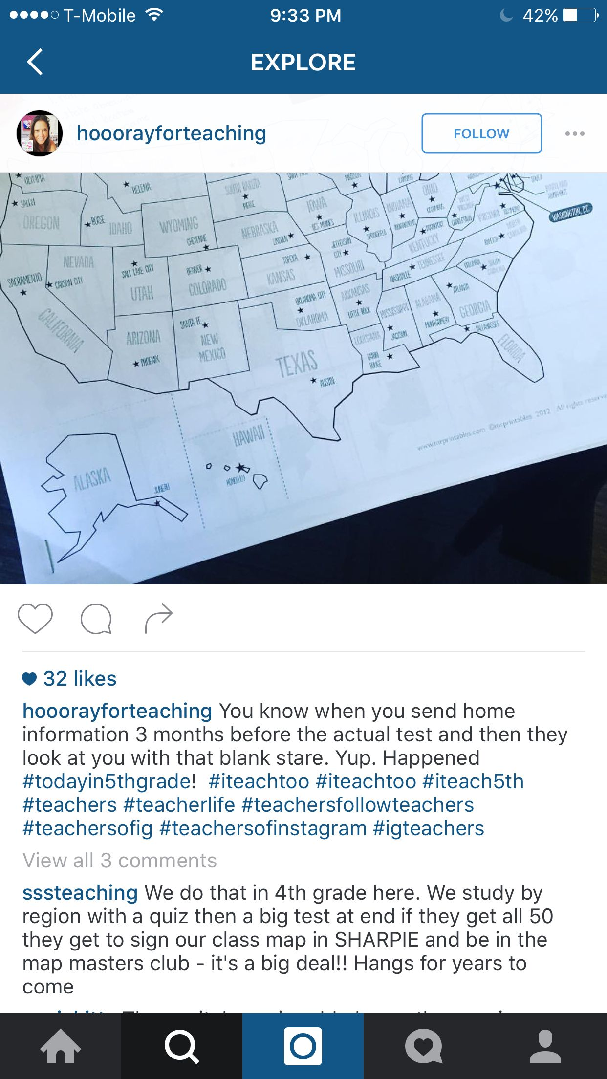 Sign The Map If You Learn All 50 States