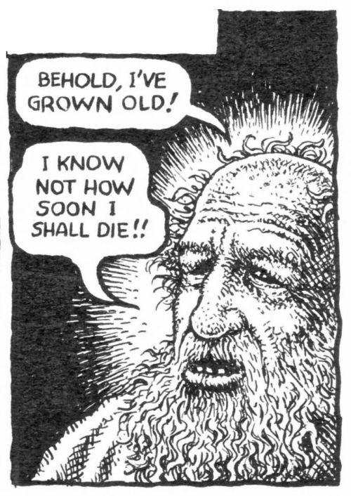 robert crumb the story of isaac isaac predicts his death genesis 27 2